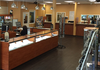 The SOMA Location Showroom with Jewelry counter and merchandise displays