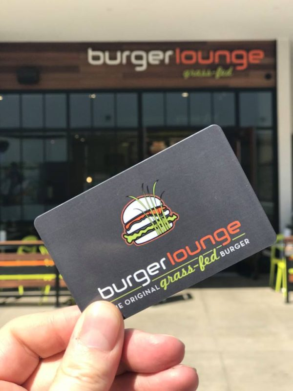 Person Holding Burger Lounge Gift Card