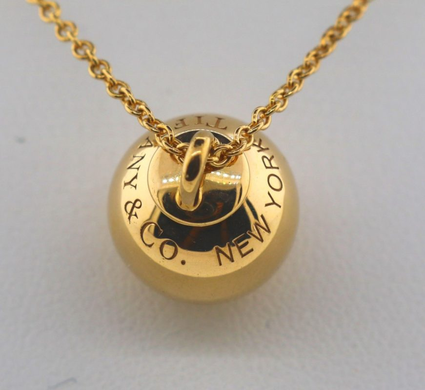 Tiffany & Co 18K Rose Gold Hardware Ball Pendant: Pawn loan on gold