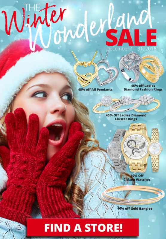 Ladies Diamond Fashion Rings - 45% off Ladies Diamond Cluster Rings - 45% off All Pendants - 45% off Gold Bangles - 40% off Citizen Watches - 40% off Layaway discounts must be reduced by 12.5%. Offer cannot be combined with any other offer. Discount not available on previously sold merchandise. Excludes all 3rd party appraised/certified jewelry. Rolex, gold and other high end watches excluded.