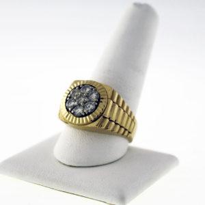 14K, 14.2G Gentleman's Cluster Ring
