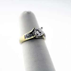 1.29CTW, 18K GIA Certified engagement ring