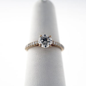 IM1.25CTW, 14K Rose Gold engagement ring