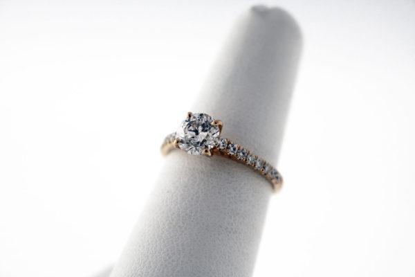 IM1.25CTW, 14K Rose Gold engagement ring