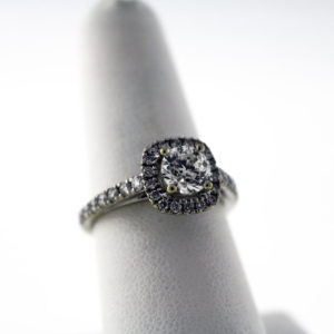 1.47CTW White Gold engagement ring