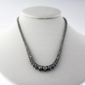 10.00CTW White Gold Diamond tennis necklace