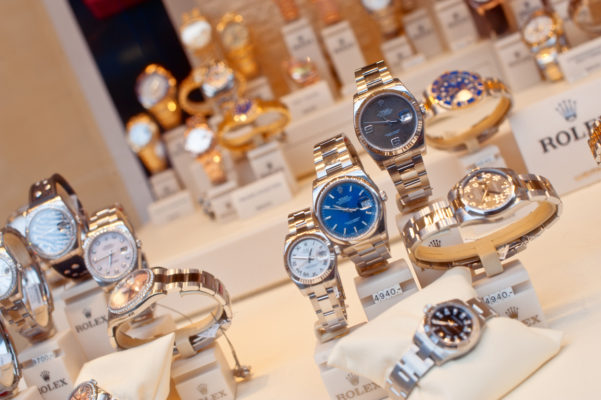 A collection of rolex watches. Shopping for a Rolex at a pawn shop is a wise way to shop.