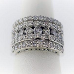 3.1CTW, White Gold, 12.3 G White Gold Ring
