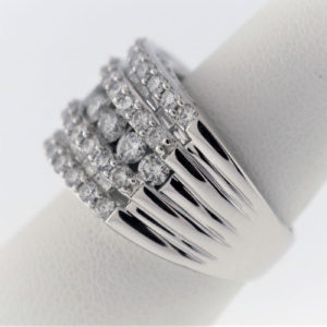 3.1CTW, White Gold, 12.3 G White Gold Ring