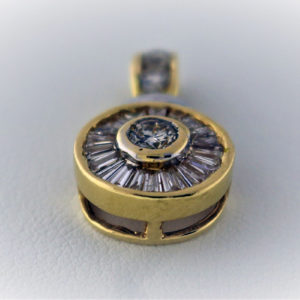 .66CTW, 14K Yellow Gold 3.5G Pendant