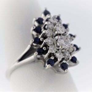 .94 Carat Weight, White Gold 6.9G Cocktail Ring