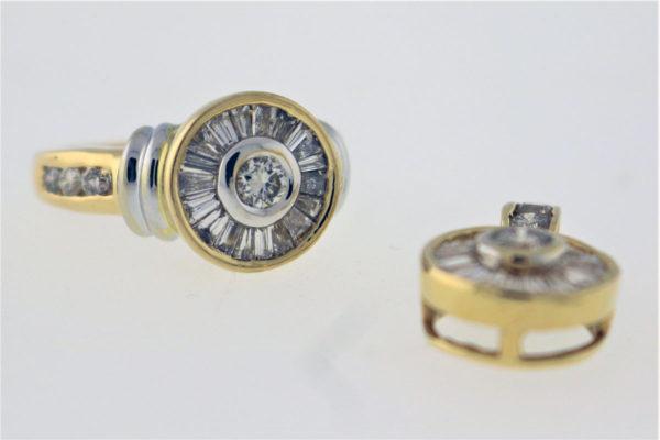 .72CTW, 14K Yellow Gold, 7.7G Fashion Ring & Matching Pendent