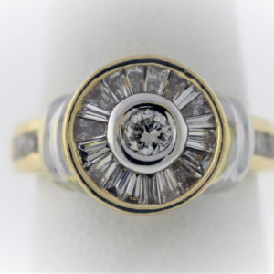 .72CTW, 14K Yellow Gold, 7.7G Fashion Ring