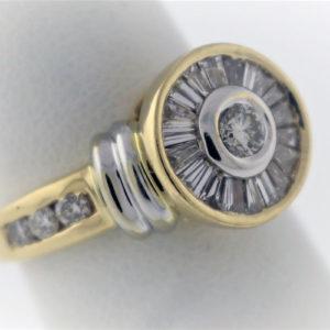 .72CTW, 14K Yellow Gold, 7.7G Fashion Ring