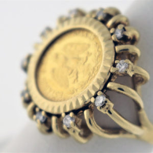 25CTW, 21K Coin, 14K 8.1G Ring