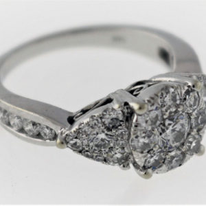 1.29CTW, White Gold, 5.0G White Gold Fashion Ring