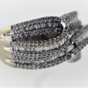 1.85CTW, White Gold, 7.9G Fashion Ring