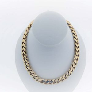 28 inch Curb Chain on display mount, 14K Yellow Gold, 459.1.G Necklace