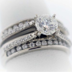 .96CTR G-SI2 diamond, 1.35 Carat Weight, White Gold Ring