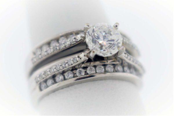 .96CTR G-SI2 diamond, 1.35 Carat Weight, White Gold Ring