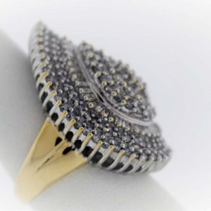 2.90 Carat Weight, 14K Gold, 13.2G Ladies Ring