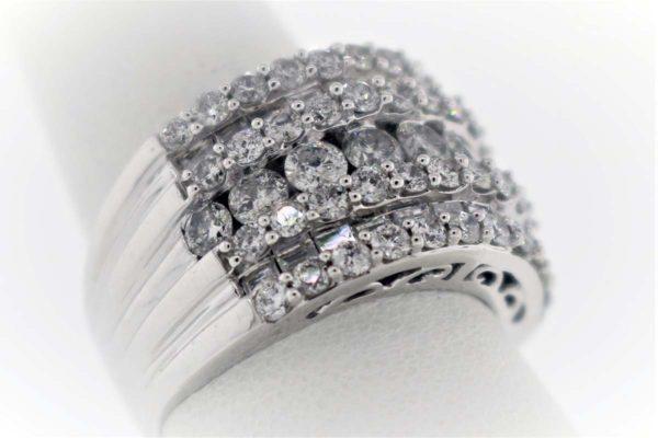 3.18 Carat Weight, White Gold 11.6G Ladies Ring