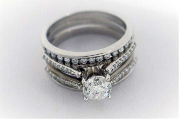 .96CTR G-SI2 diamond, 1.35 Carat Weight, White Gold Ring, 4 C's