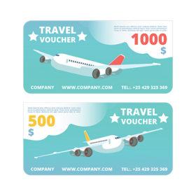 $1000/$500 Online-Rewards travel vouchers