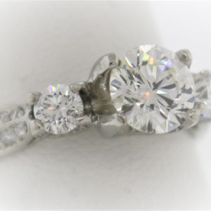 Lady's 6.6G PLATINUM Diamond Fashion Ring
