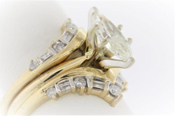 7.7G Wedding Set in 14 Karat Yellow Gold