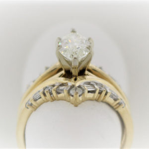 7.7G Wedding Set in 14 Karat Yellow Gold