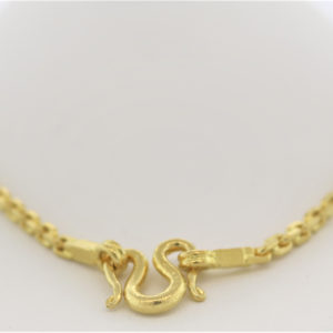 24 Inch 24K Yellow Gold Chain Necklace