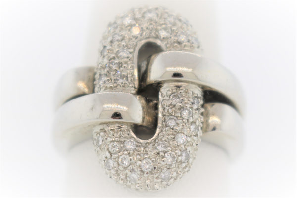 Lady's 10.5G Diamond Fashion Ring in 18K White Gold