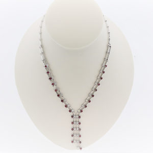 Ruby Pendant/Necklace in 18K White Gold