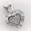 9.4G Heart Shaped Pendant in 18K White Gold