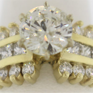 Ladies 1.99CT Engagement Ring in 14K Gold