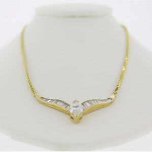 14.7G Gold-Diamond Pendant