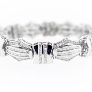 5.75CTW Bracelet in White Gold