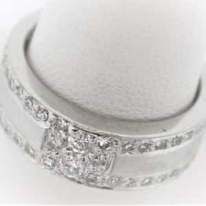 .52CTW White Platinum Ring