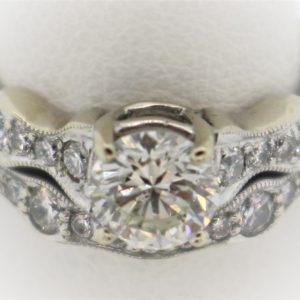 .82CTR Diamond Wedding Set in 18K Gold