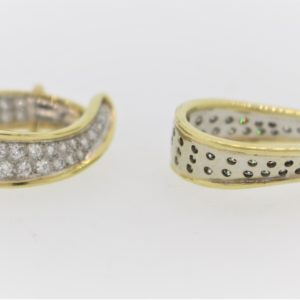Ladies Diamond Earrings in 18K Gold