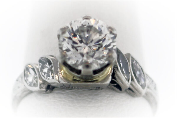 1.10CTR Ladies Estate Collection Platinum Ring