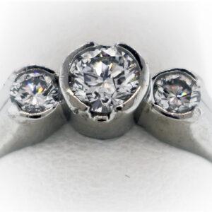7.2G Ladies Estate Collection Platinum Ring