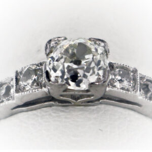 .55CTR Vintage Ladies Estate Collection Platinum Ring