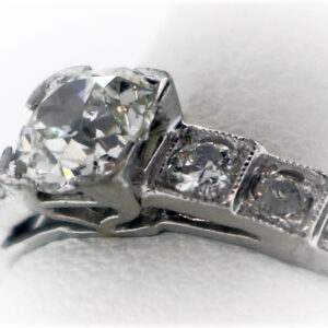 .55CTR Vintage Ladies Estate Collection Platinum Ring