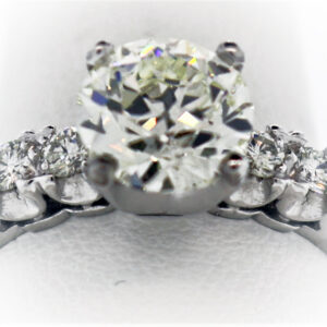 2.34CTR Ladies Estate Collection Platinum Ring