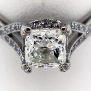 .58CTR Ladies Estate Collection Platinum Ring