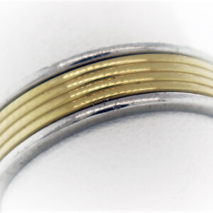 9.5G Estate Collection Platinum & 18K Gold Ring