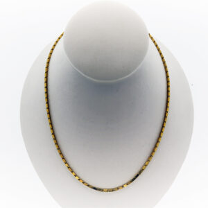 20 Inch Small Baht Chain in 24K Yellow Gold