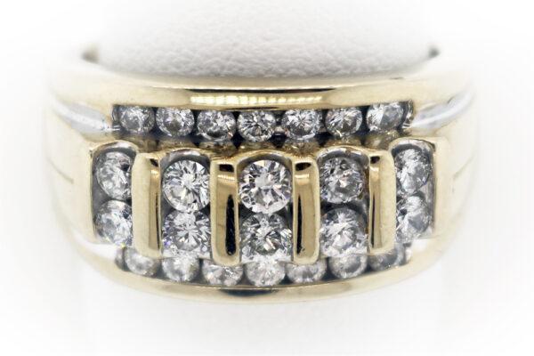10.9G Men's Fashion Ring in 14K Yellow Gold
